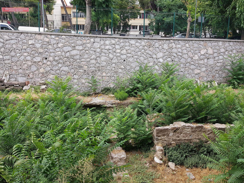 Abandoned archaeological park Altınpark in Izmir