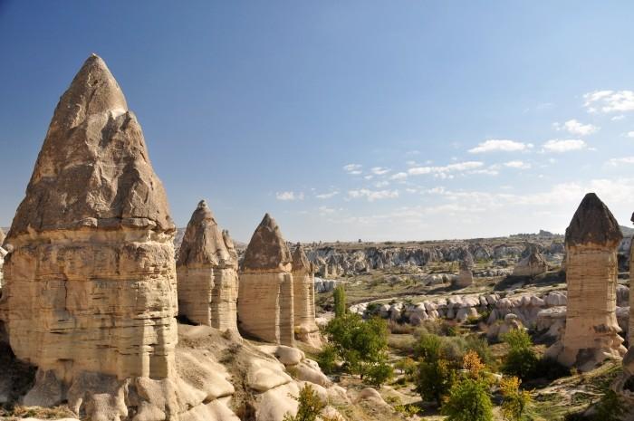 Typowy widok w Kapadocji