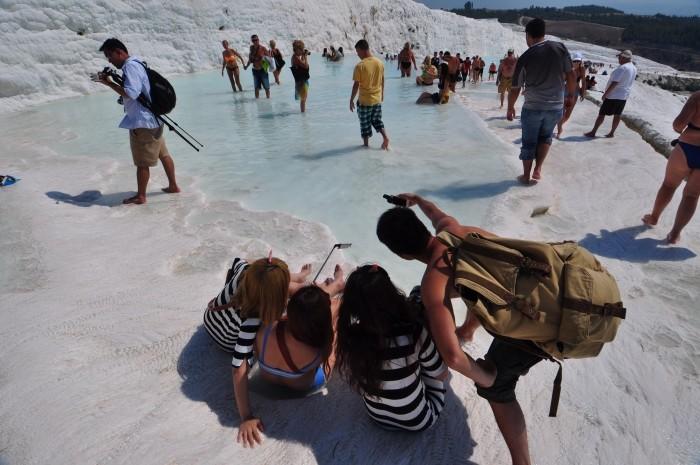 Pamukkale - idealne miejsce do zrobienia tzw. selfie