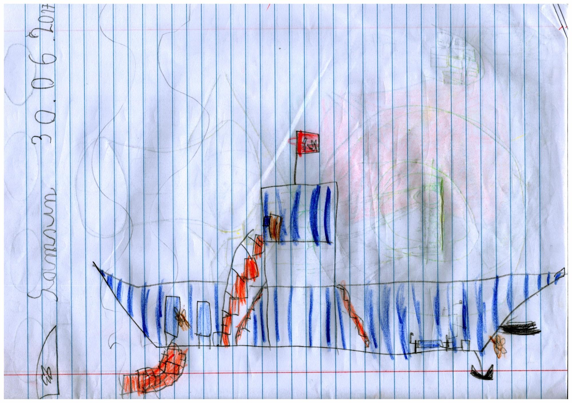 Replika parowca Bandirma w Samsunie