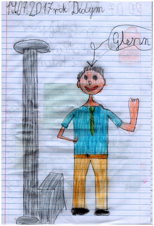 Pan Glenn w świątyni Apollina w Didymie