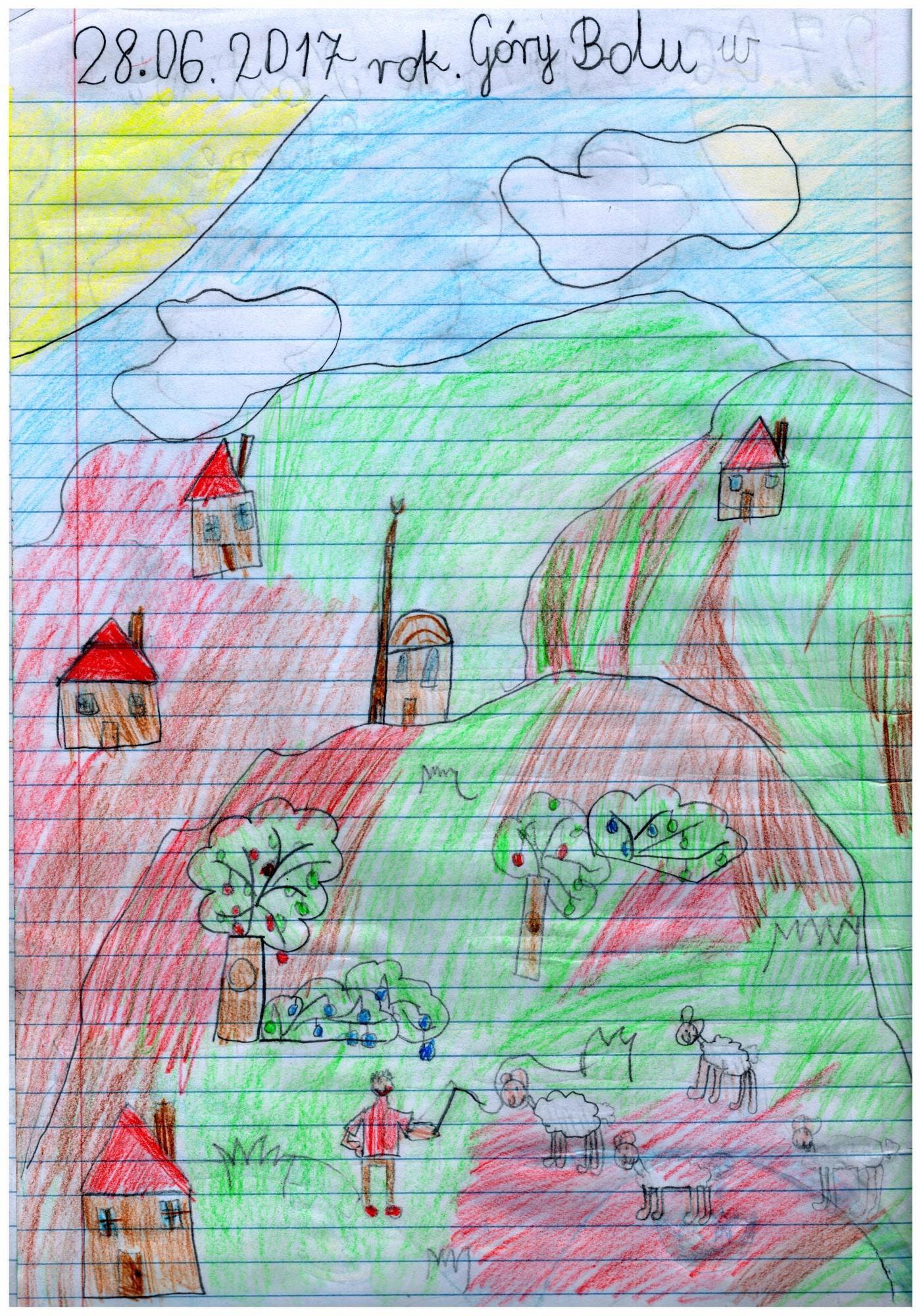 Krajobraz gór Bolu