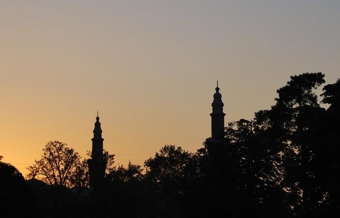 Minarety Wielkiego Meczetu w Bursie