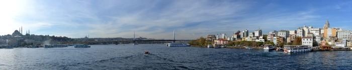Haliç Metro Köprüsü widziany z Mostu Galata