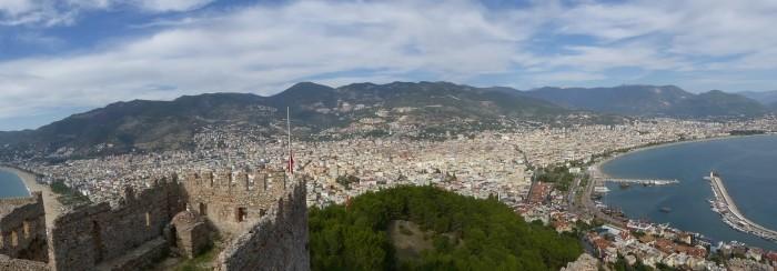 Panorama ze szczytu twierdzy