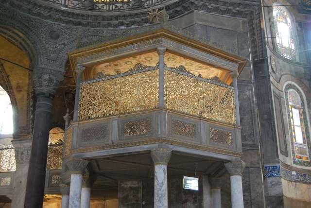 Loża sułtańska z dekoracjami Fossatiego