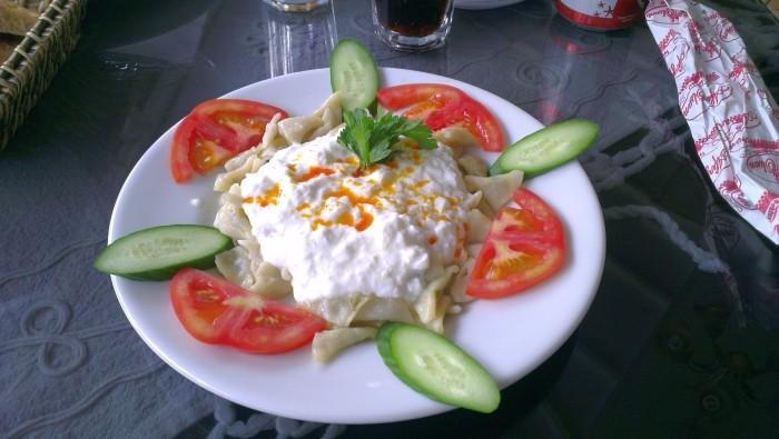 Mantı podawane w restauracji Bolu Sofrası