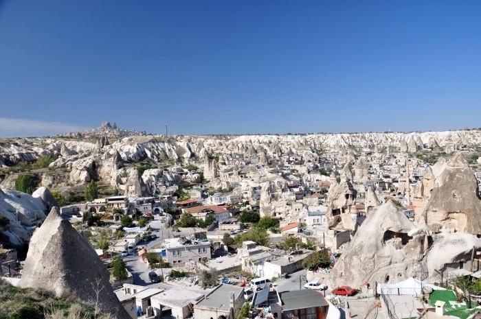 Widok na miasteczko Göreme