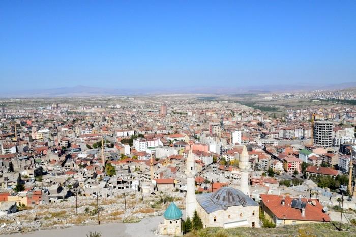Widok z twierdzy w Nevşehir