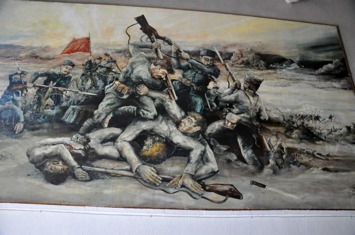 Malowidło ukazujące scenę walki wręcz