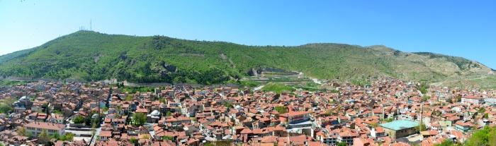 Panorama Afyonu widziana z twierdzy