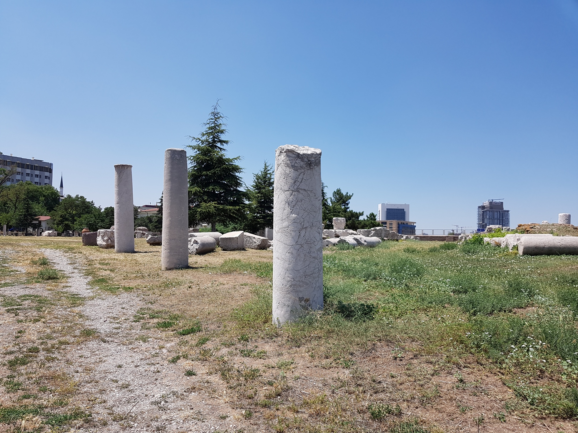Colonnaded street near Roman Baths in Ankara