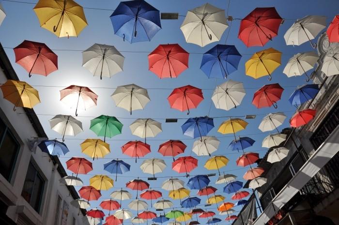 Ulica parasolkowa w Antalyi