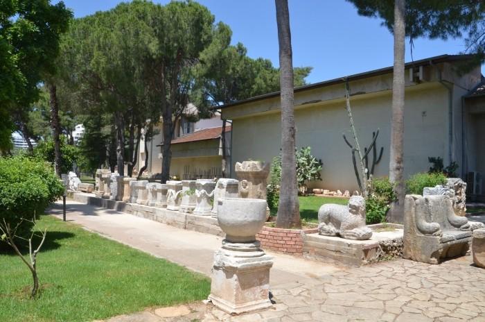 Ekspozycja w ogrodzie muzealnym