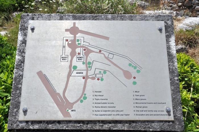 Plan sytuacyjny okolic Bramy Myndos