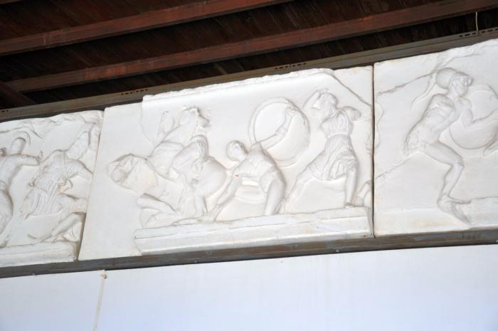 Kopia fryzu przedstawiającego Amazonomachię