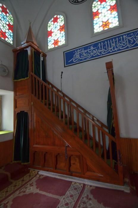 Mimbar w meczecie Mezit Bey (Yeşilce) w Edirne