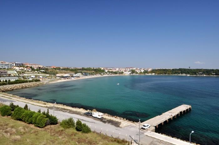 Widok na plażową dzielnicę Hamzaköy