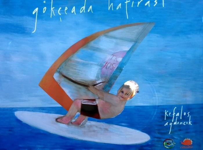 Windsurfing jest mocno promowany na wyspie Gökçeada