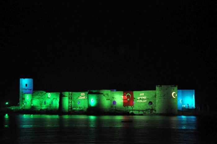 Zamek Panny w nocy