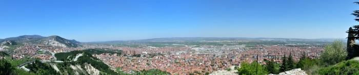 Widok z twierdzy w Kütahyi