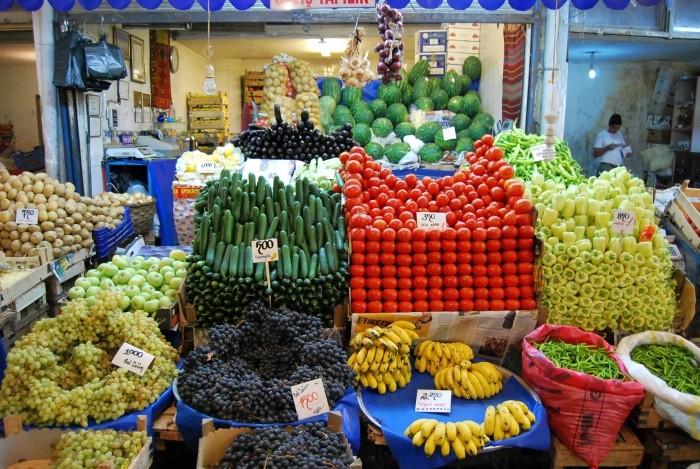 Bazar warzywno-owocowy w Malatyi