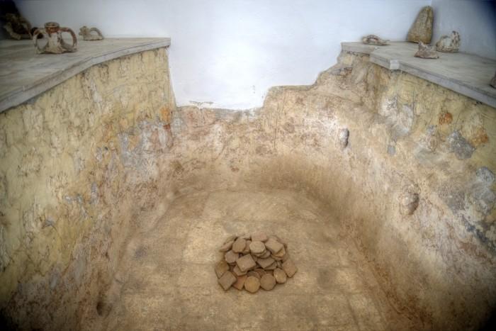 Pozostałości łaźni Poimenosa w muzeum w Narlıkuyu
