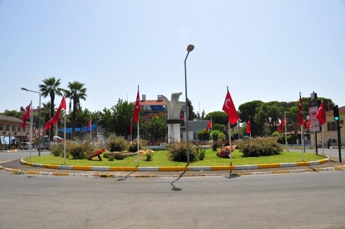 Rondo w centrum Ödemiş