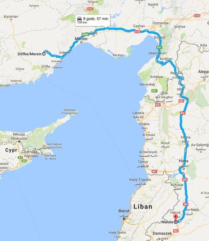 Odległość z Silifke do Maalula