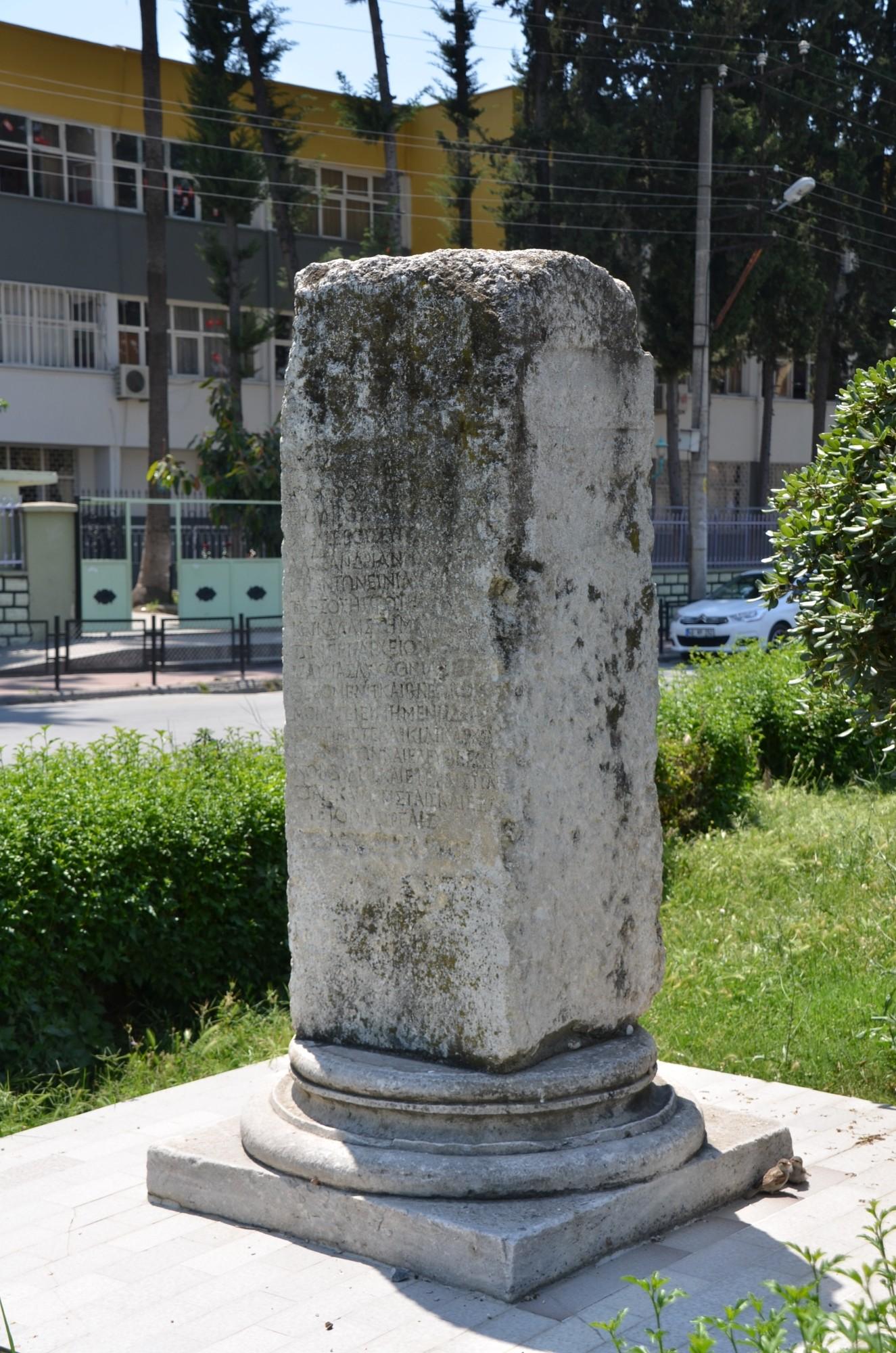 Inskrypcja przy Bramie Kleopatry w Tarsus