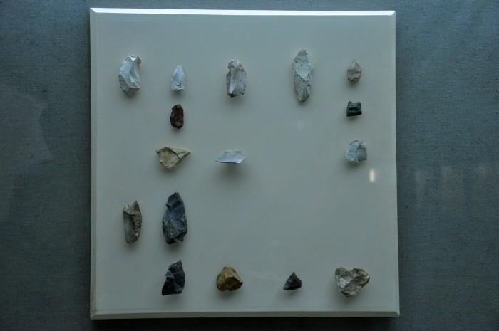 Kamienne narzędzia z jaskini Karain - zbiory Muzeum Archeologicznego w Antalyi