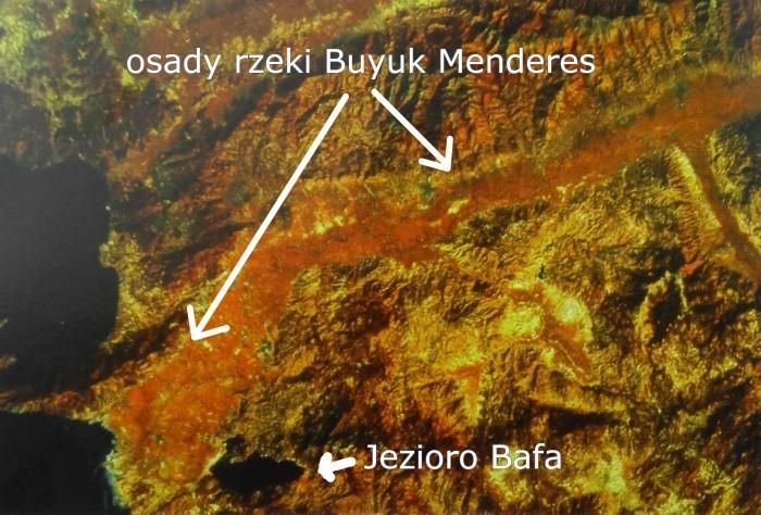 Widok satelitarny okolic jeziora Bafa