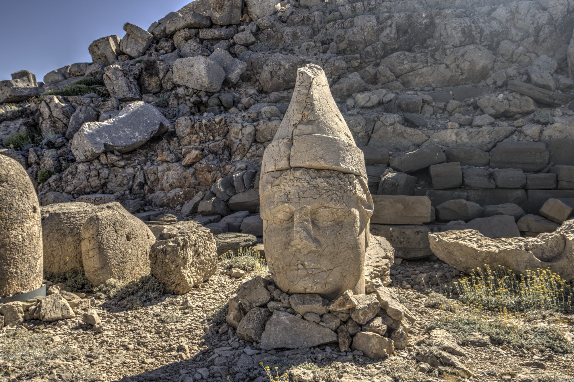 East Terrace on Mount Nemrut, the head of King Antiochus