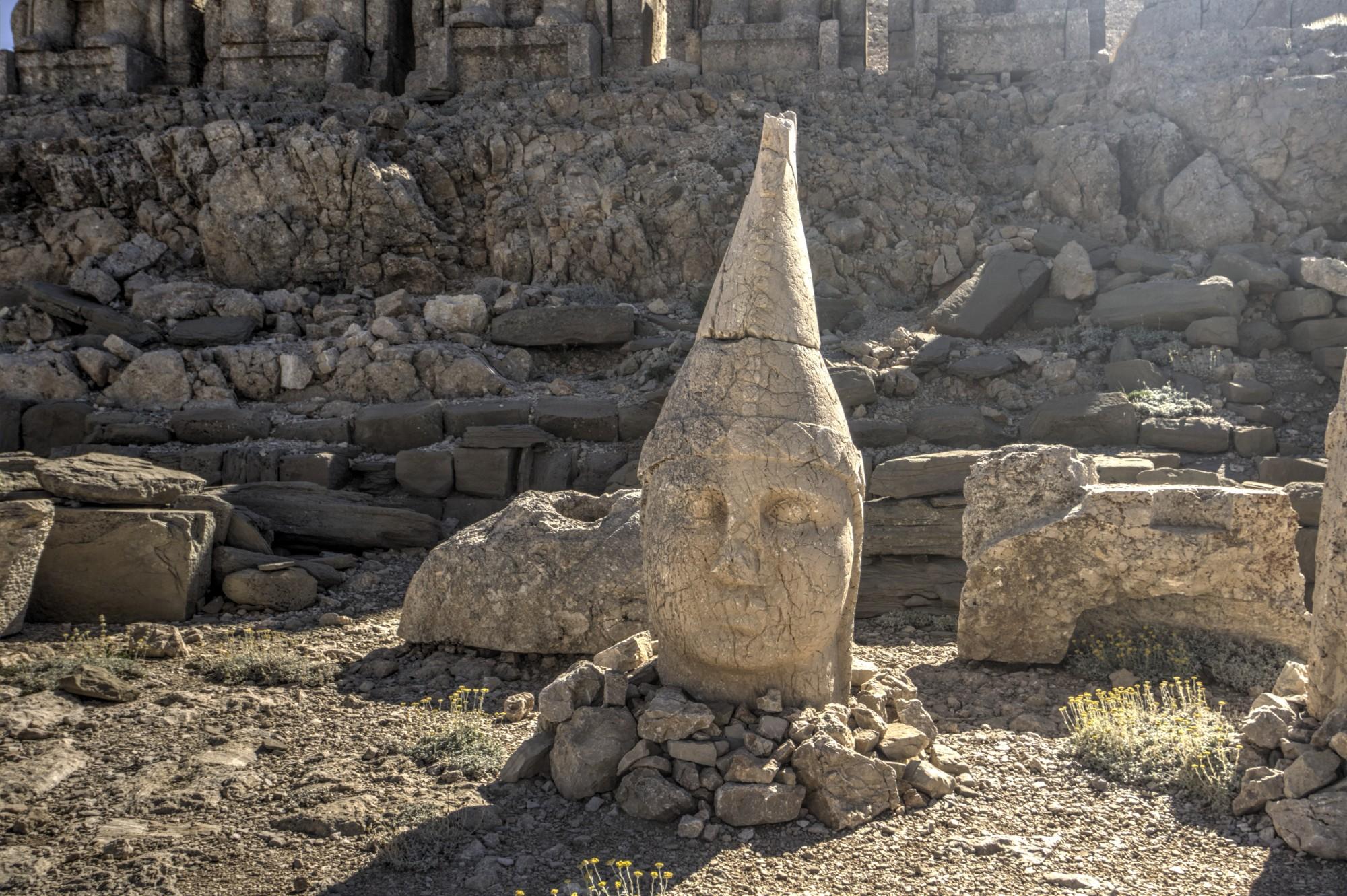 East Terrace no Monte Nemrut, a cabeça de Apolo