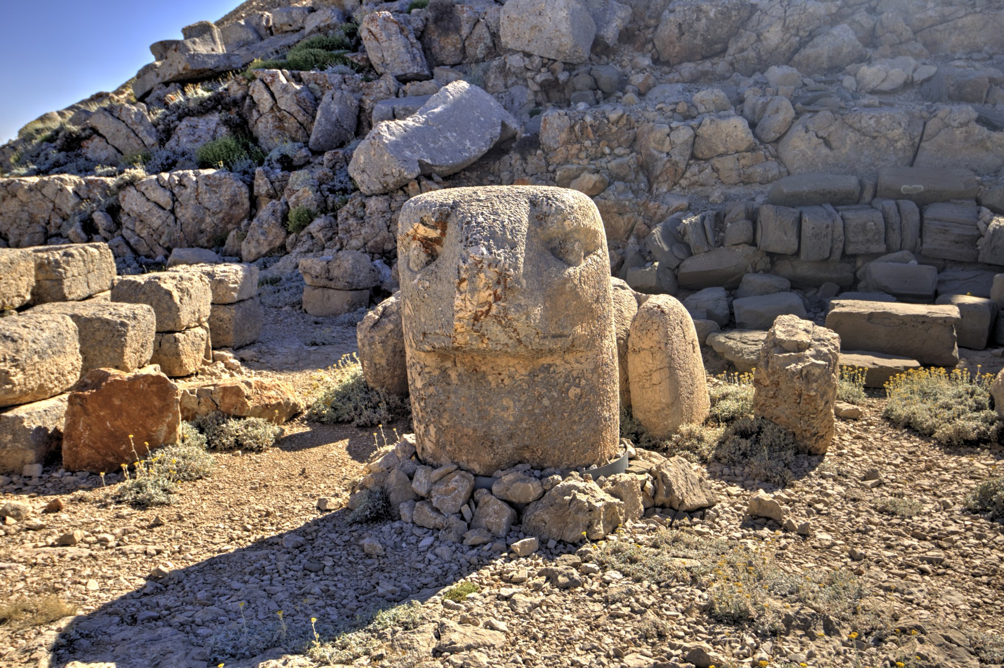 East Terrace on Mount Nemrut, the head of an Eagle