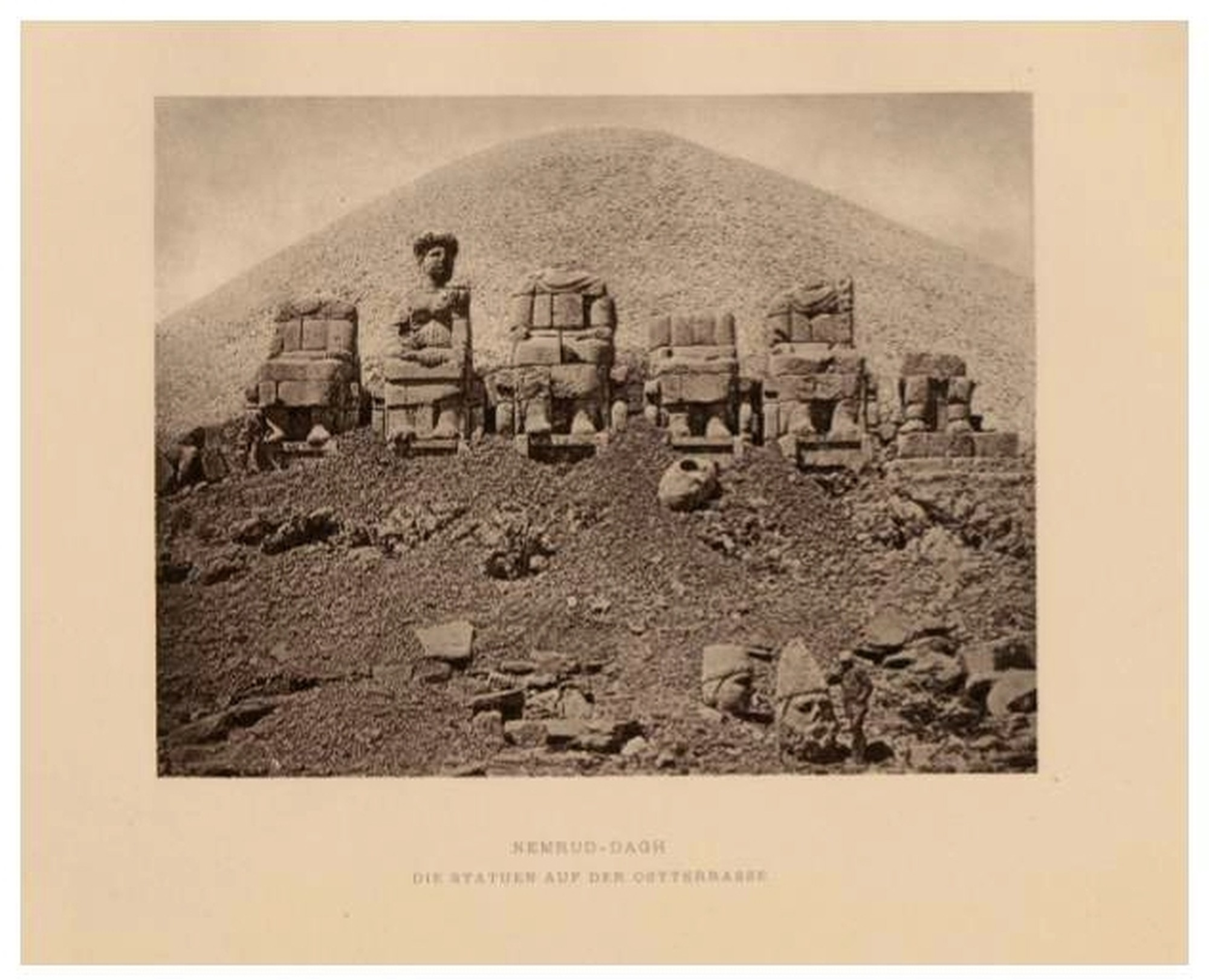 West Terrace on Mount Nemrut, the goddess of Commagene still has her head on the shoulders - from Humann, Carl i Puchstein, Otto,