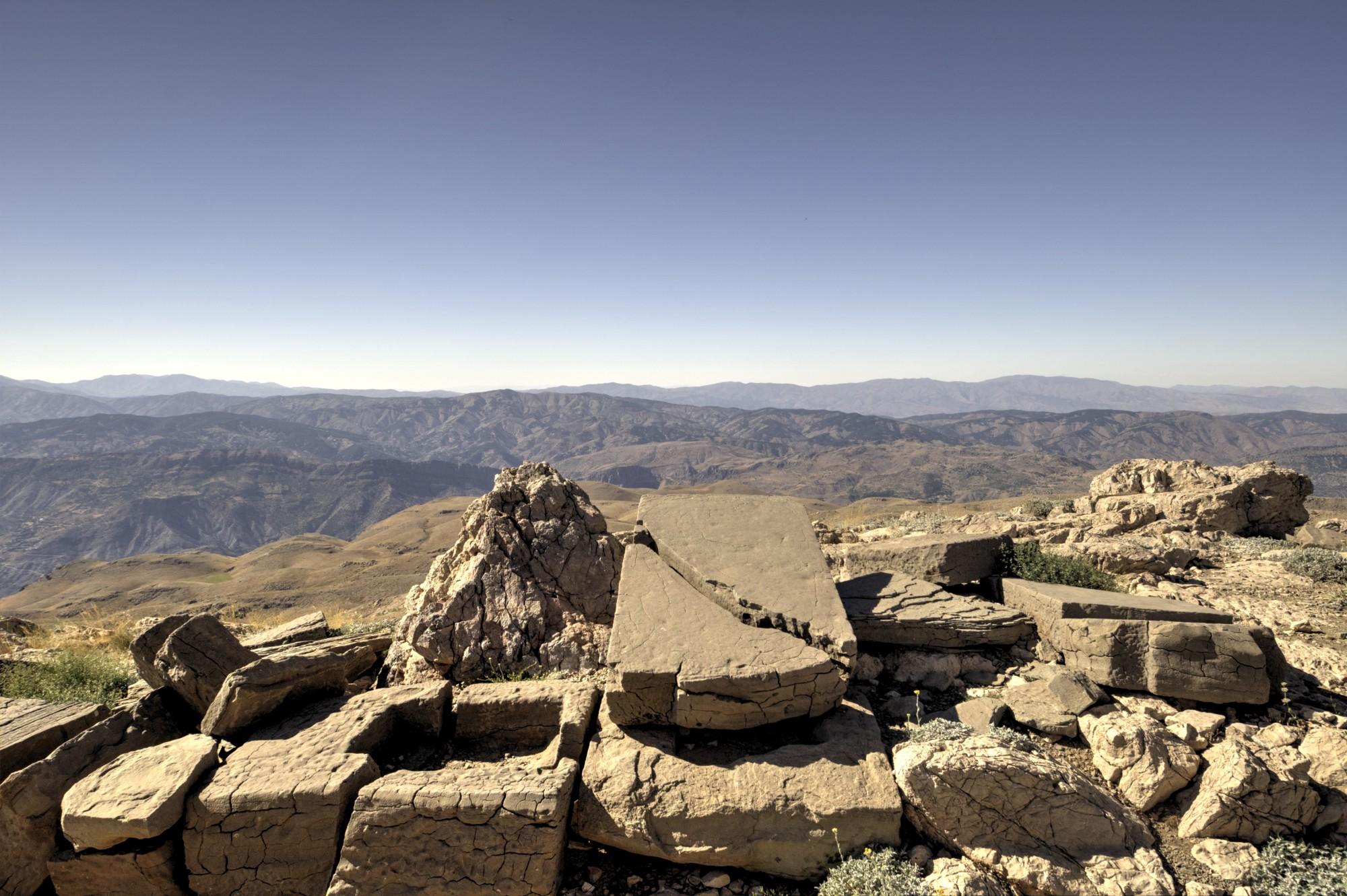Terraço Norte no Monte Nemrut