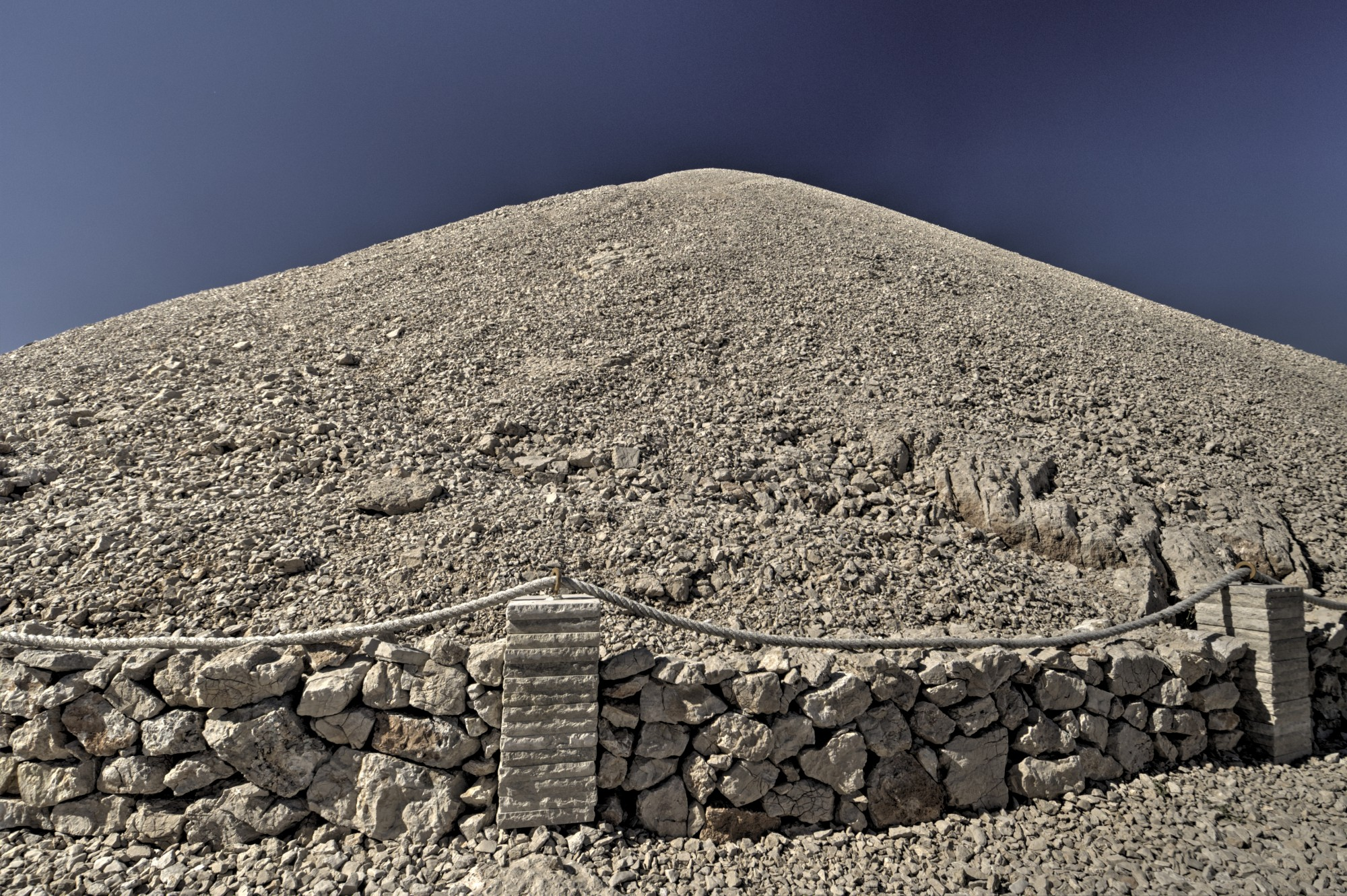 Artificial tumulus on Mount Nemrut