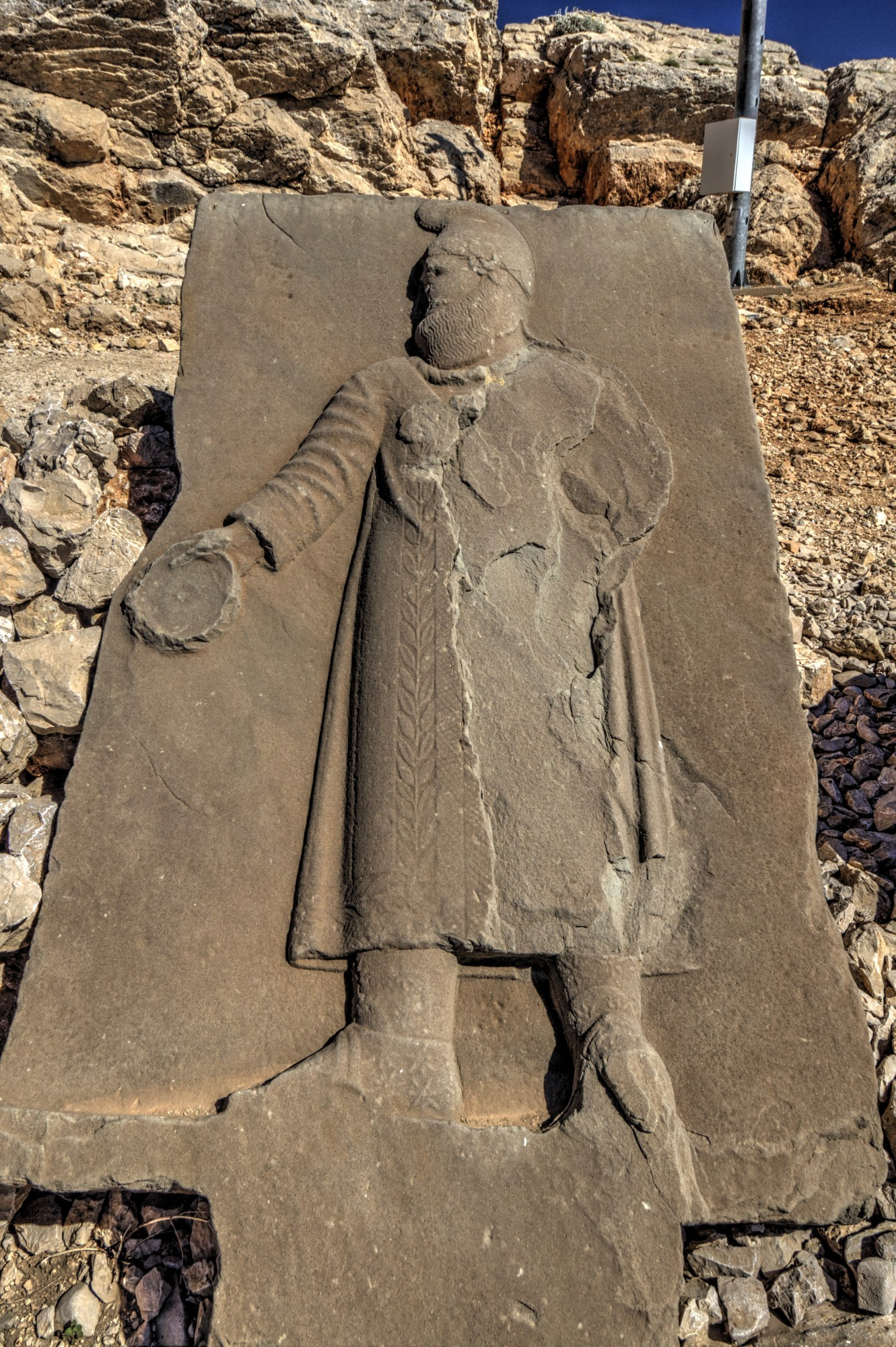 West Terrace on Mount Nemrut, ancestor stele of King Antiochus