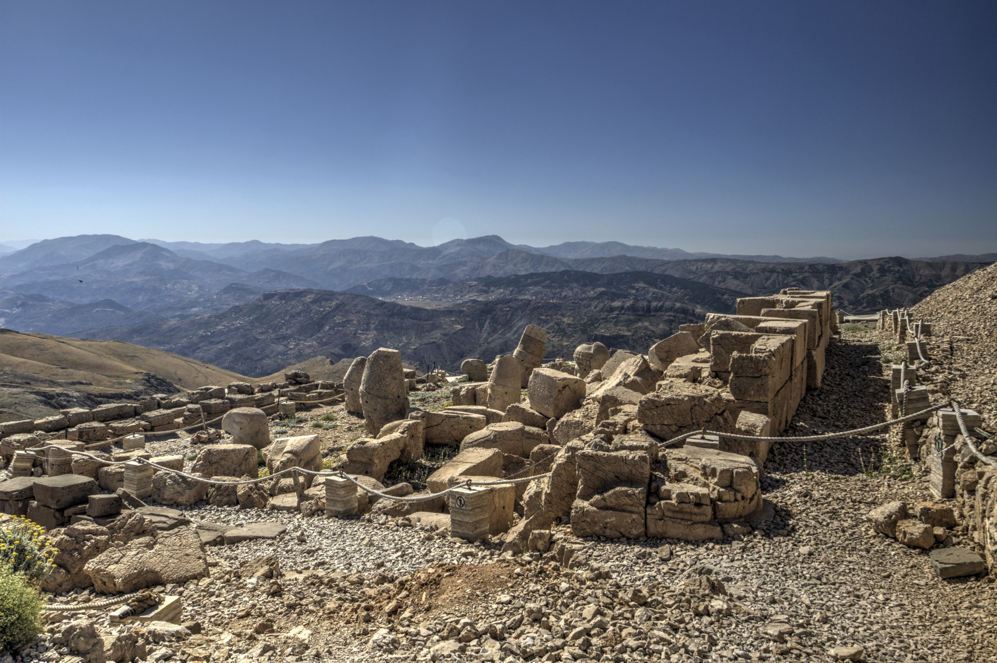 Terraço Oeste no Monte Nemrut