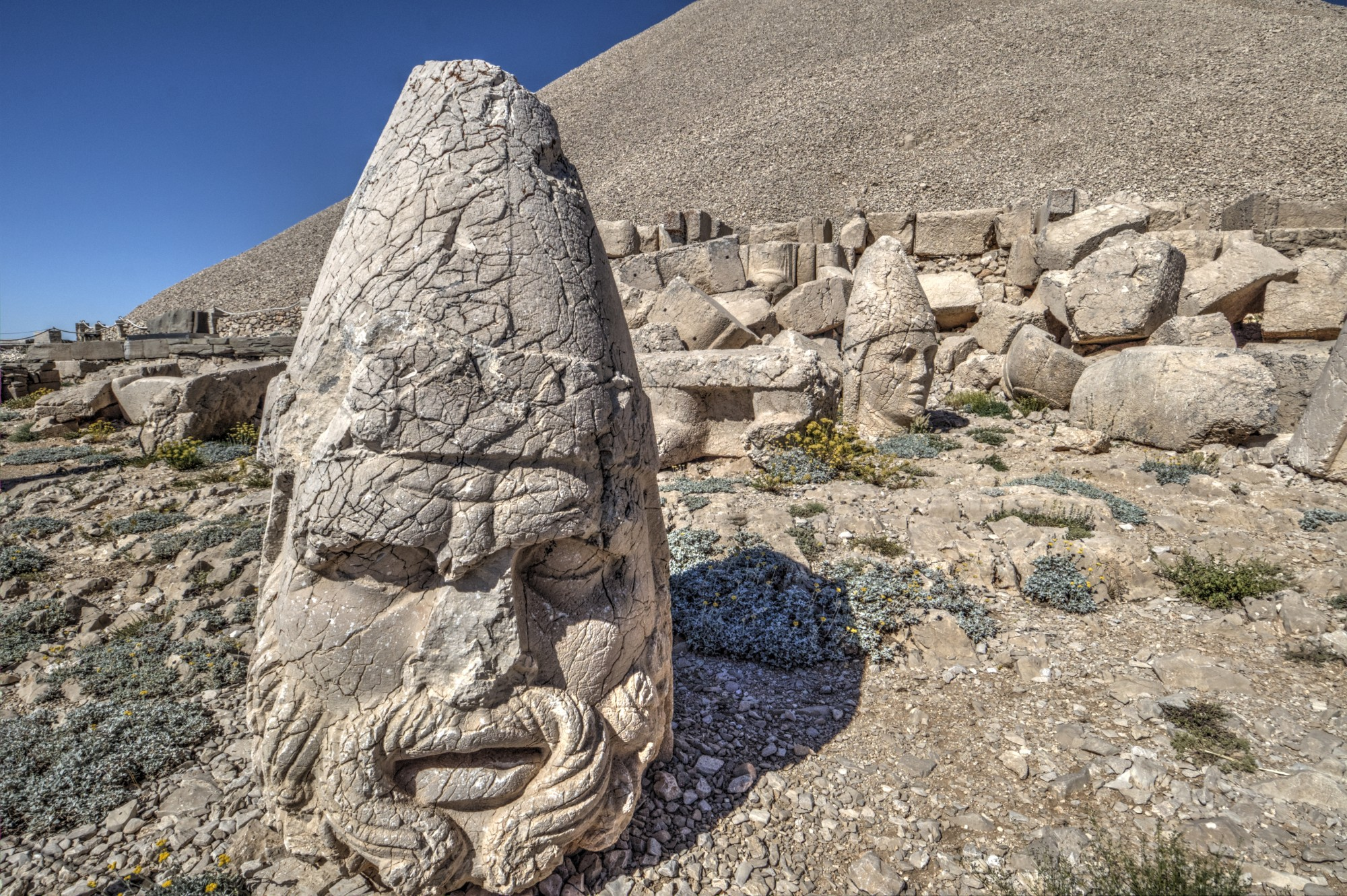 West Terrace on Mount Nemrut, the head of Zeus