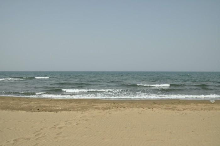 Morze Egejskie widziane z plaży Pamucak