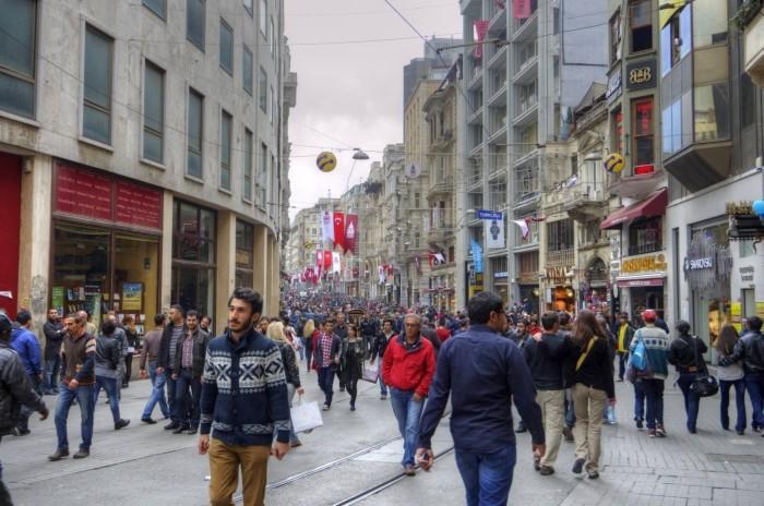 Aleja İstiklal w Stambule