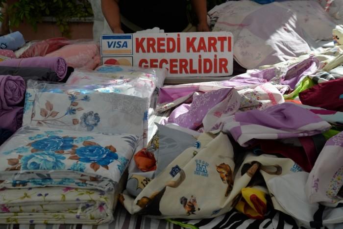 Bazar w Gelibolu - akceptowane są karty płatnicze