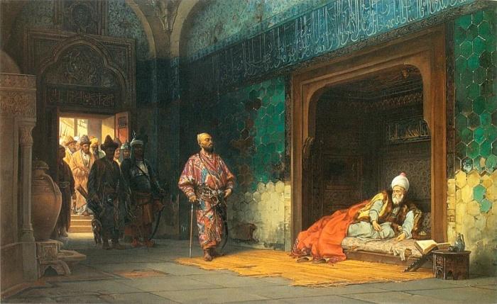 Sułtan Bajazyt w niewoli u Tamerlana - Stanisław Chlebowski, 1878