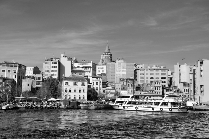 Widok na Wieżę Galata w Stambule