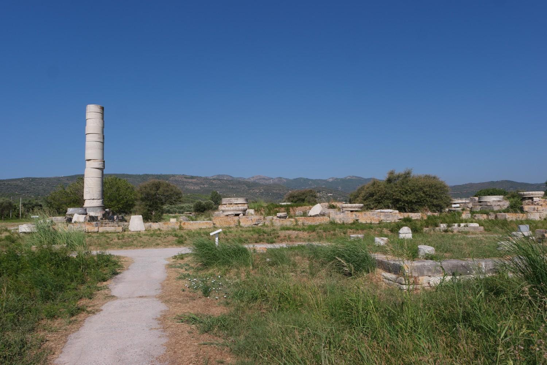 Ruiny świątyni bogini Hery na greckiej wyspie Samos