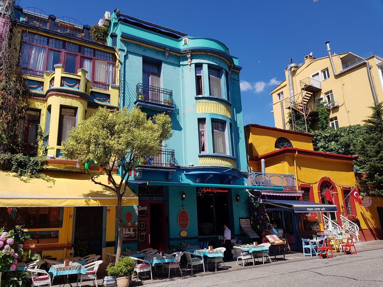 Widok z dzielnicy Sultanahmet w Stambule