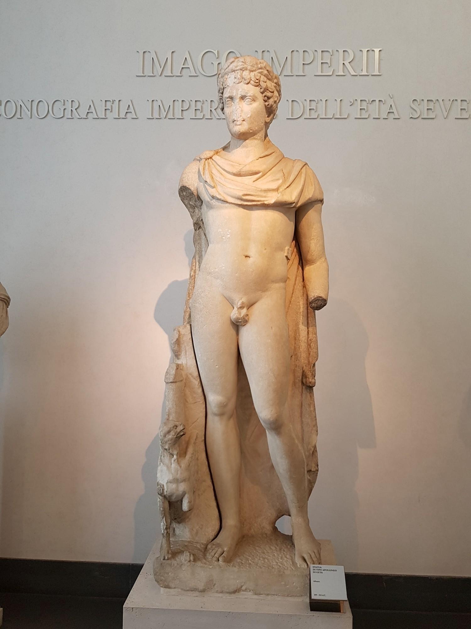 Geta jako Apollo, posąg ze zbiorów Palazzo Massimo alle Terme