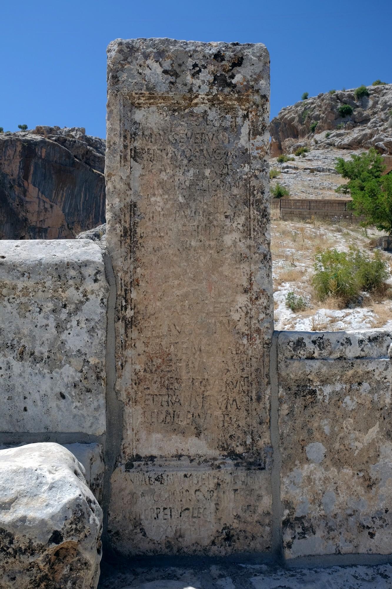 Inskrypcja na moście Septymiusza Sewera - wersja pierwsza